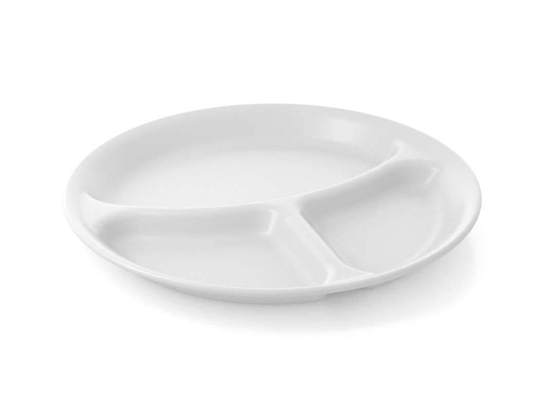 Shoham Divided Plate 26cm 56 White