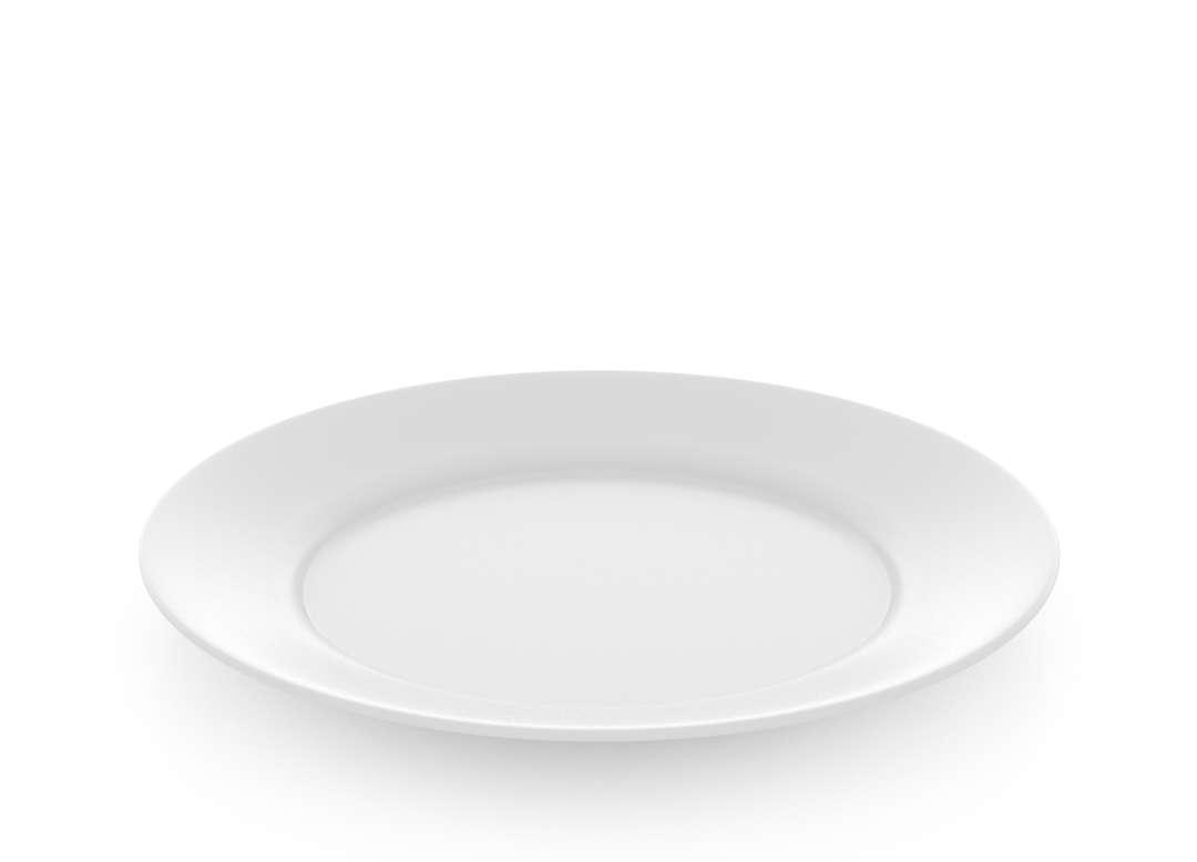 Basic Flat Plate 22cm 42 White
