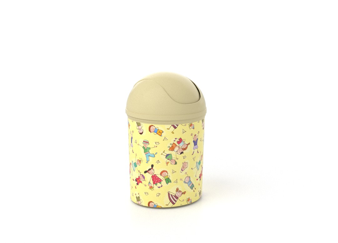 Decorative Dust Bin 6L 7966 Cream Kids