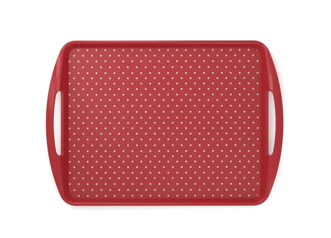 Decorative Fast Food Tray 44x30cm 9437 Red Dots