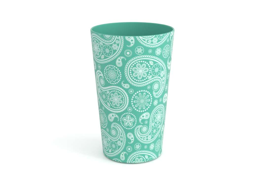 Decorative Modern Cup 275ml 9234 Turquoise Paisley
