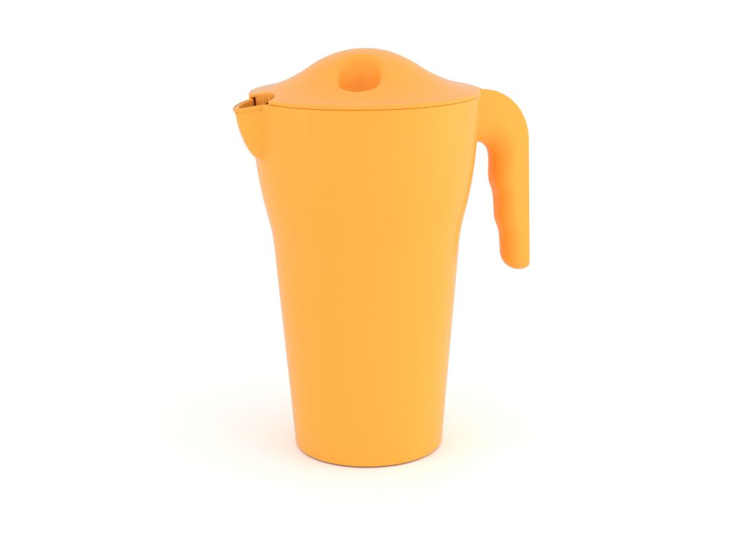 Designed Pitcher with Lid 2L 482 Tropical Orange