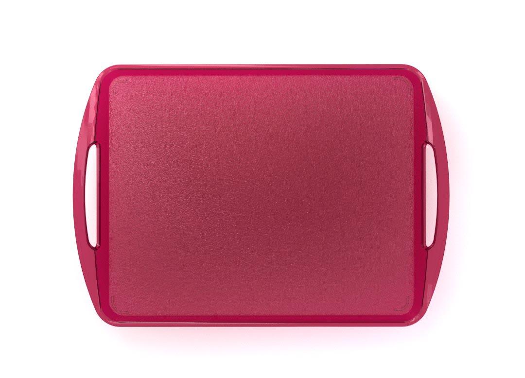 Fast Food Tray 44x30cm 4430-3 Transparent Bordeaux