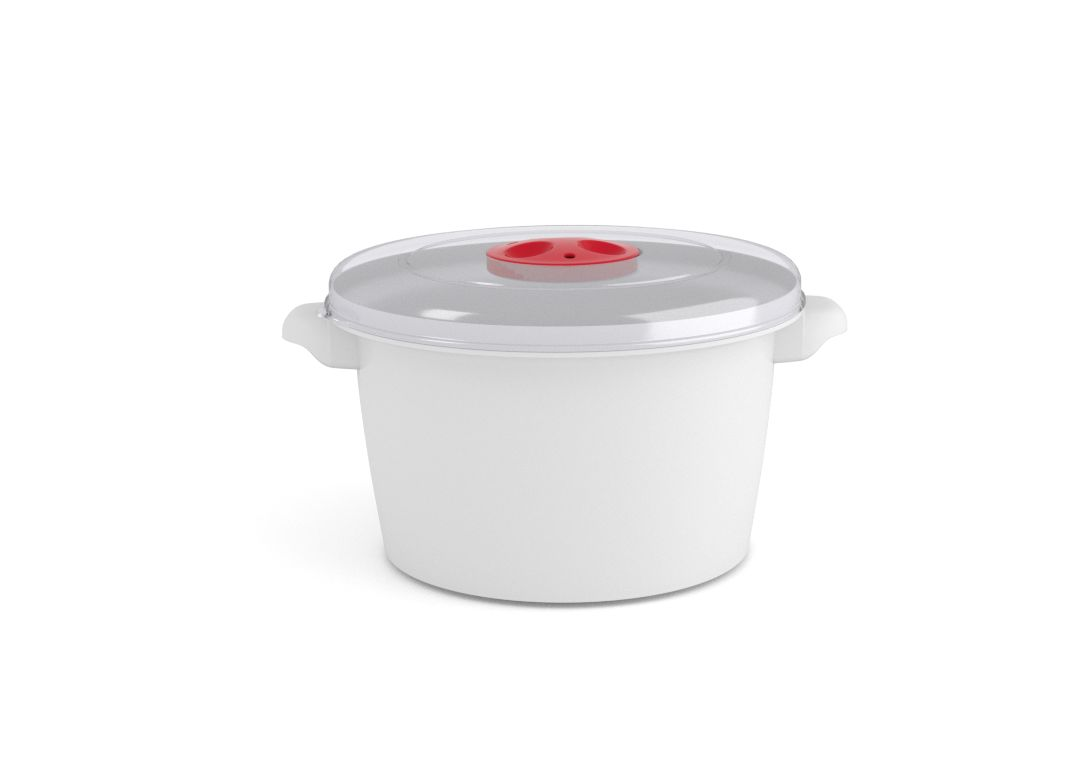 Microwave Pot 1.5L 3150 with Steam Release Valve White