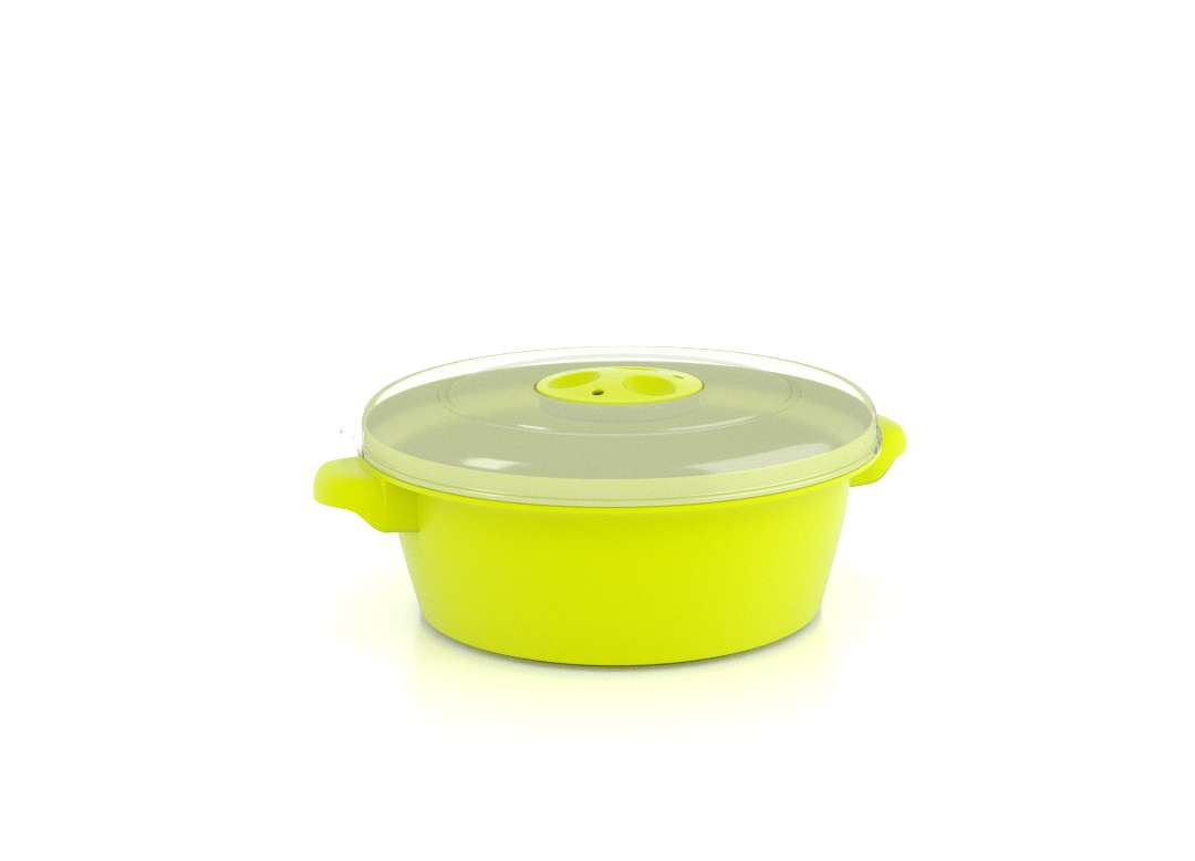1.5 Litre Microwave Bowl Pot Container With Steam Release Valve /& Lid White