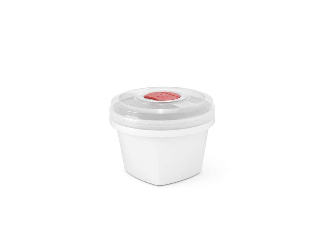 Smart Square Container 500ml 9950 with Steam Release Valve White