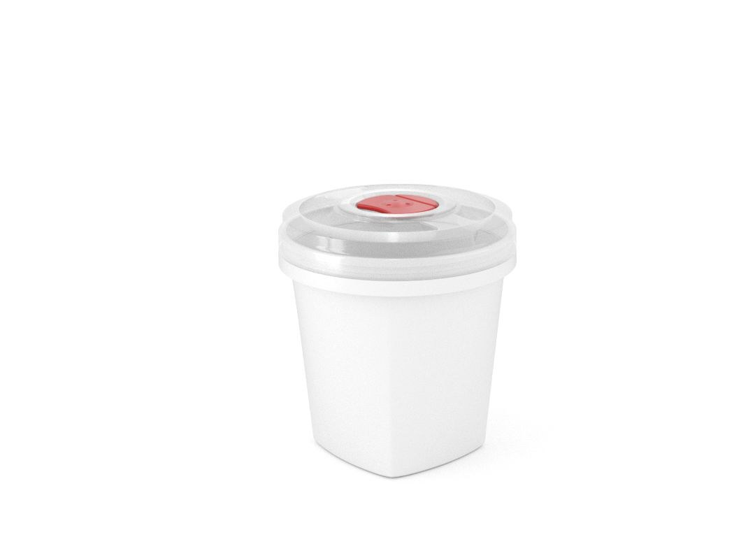 Smart Square Container 750ml 9975 with Steam Release Valve White
