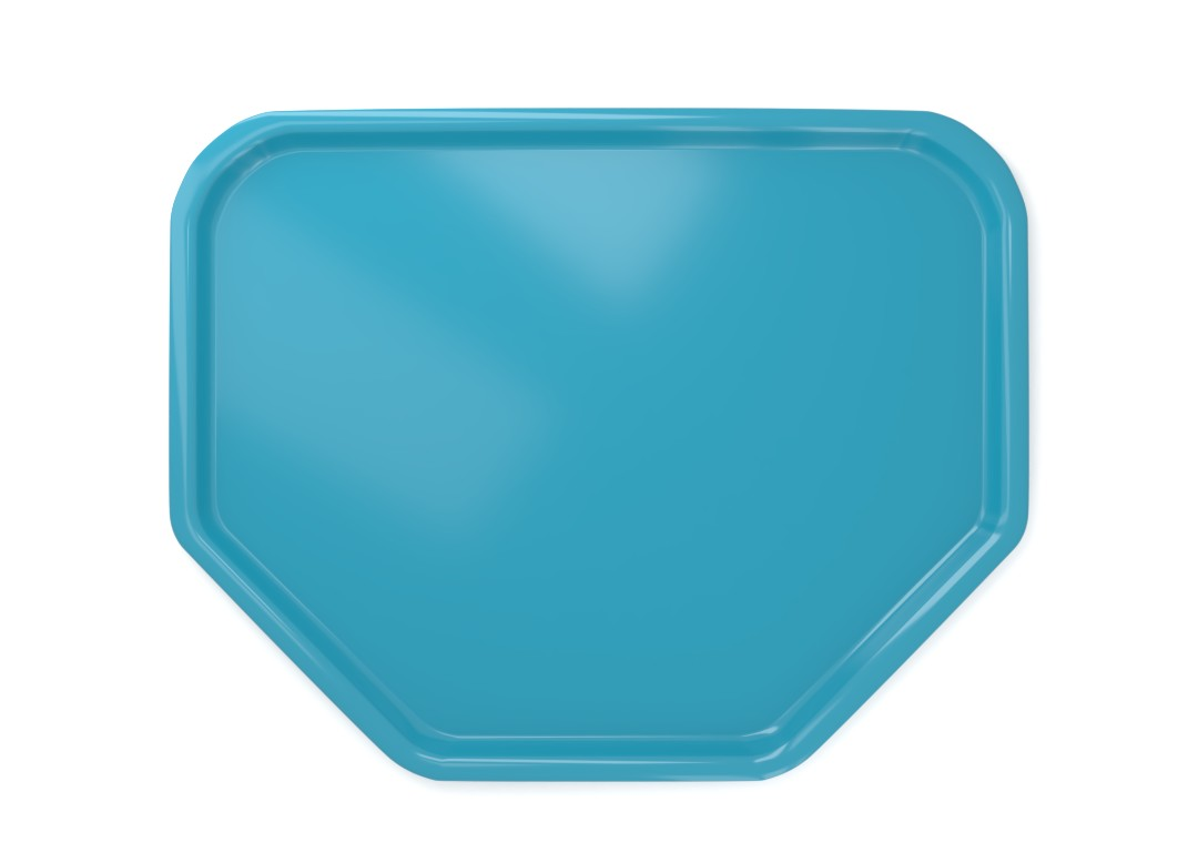 Trapeze Tray 45x36cm 4536 Turquoise Ruby