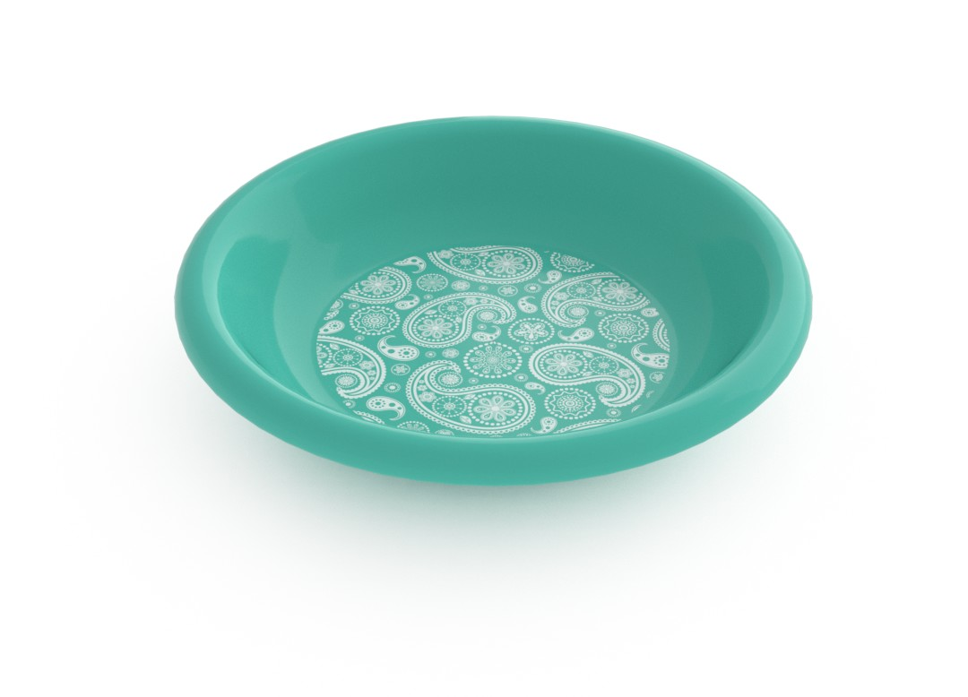 Adi Decorative Deep Plate 21cm 6914 Turquoise Paisely