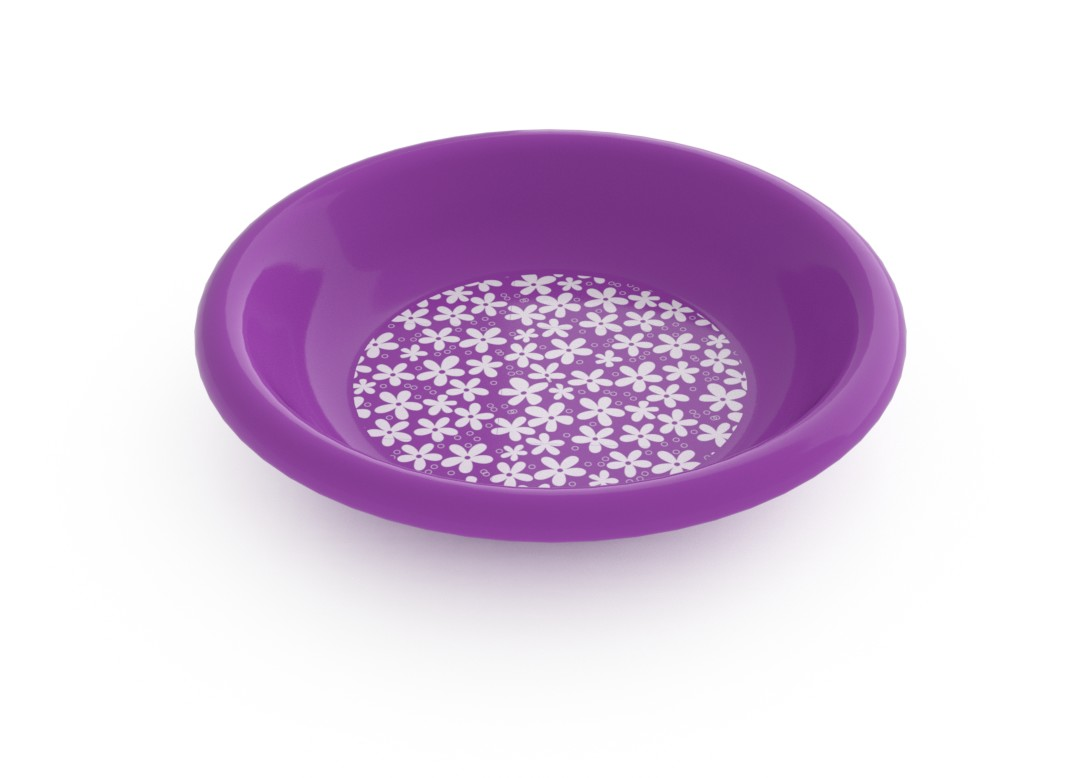Adi Decorative Deep Plate 21cm 6915 Purple Flowers