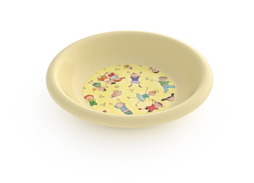 Adi Decorative Deep Plate 21cm 6916 Cream Kids