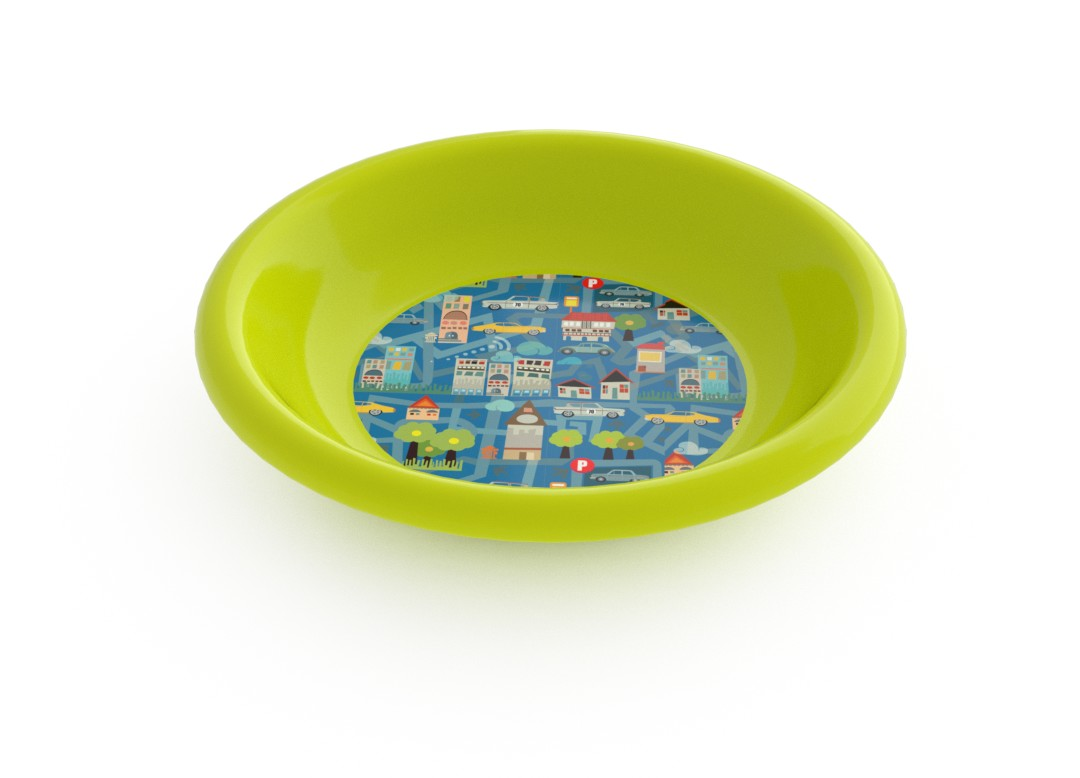 Adi Decorative Deep Plate 21cm 6918 Lime City