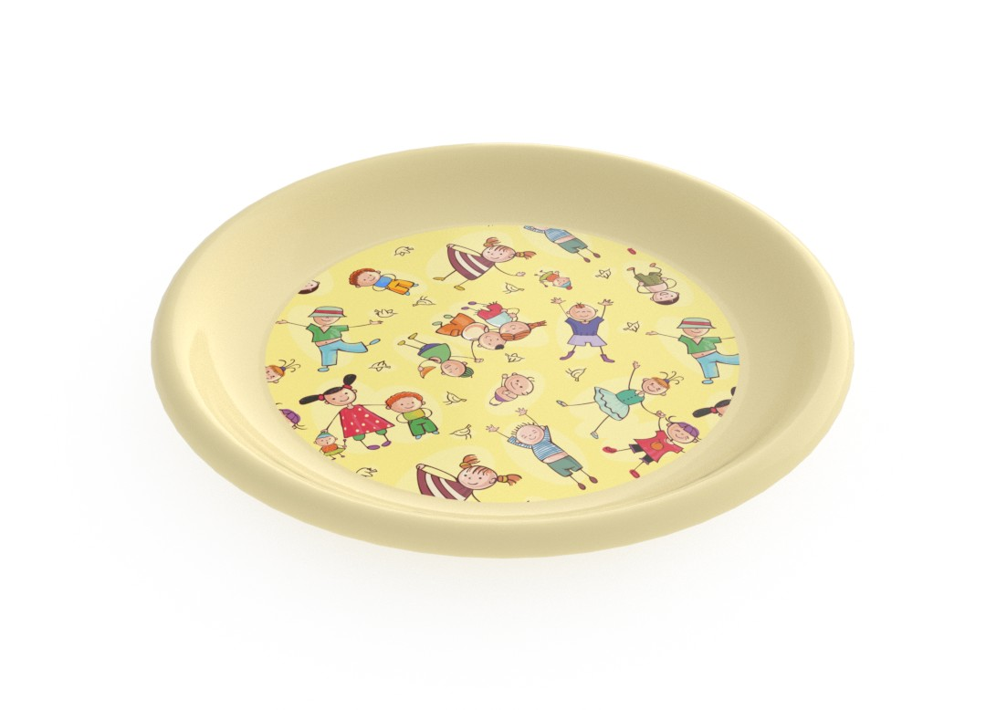 Adi Decorative Flat Plate 23cm 6936 Cream Kids