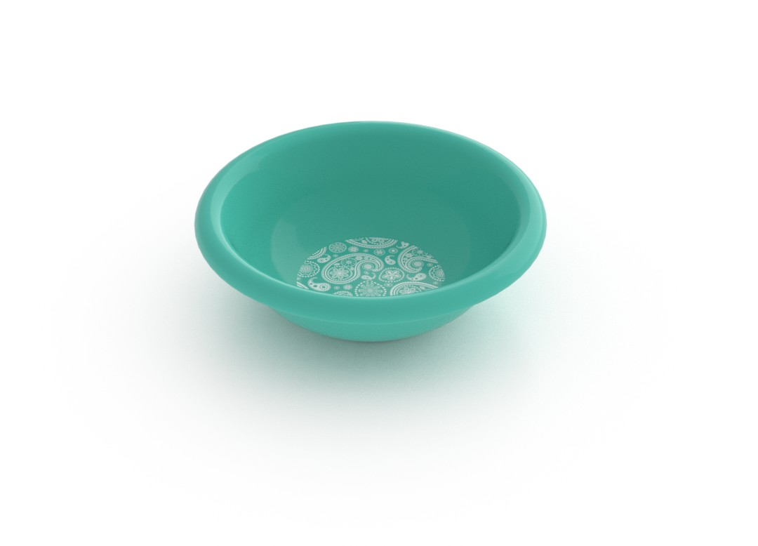 Adi Decorative Small Bowl 275ml 6944 Turquoise Paisely