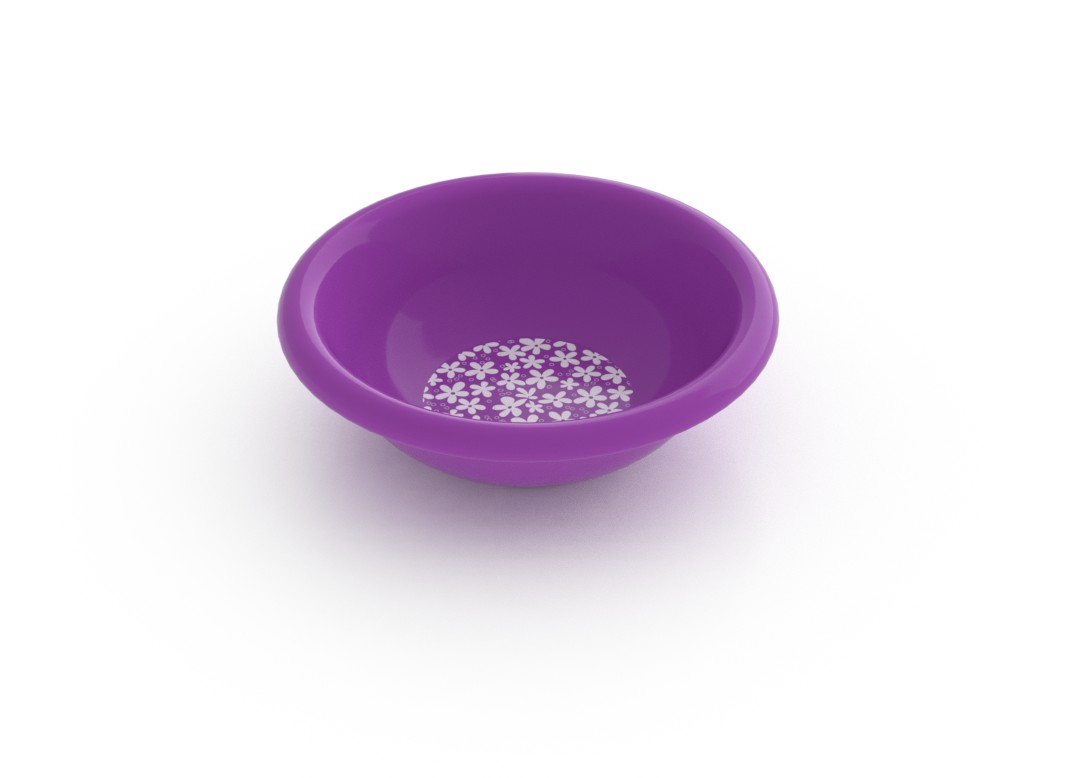 Adi Decorative Small Bowl 275ml 6945 Purple Flowers