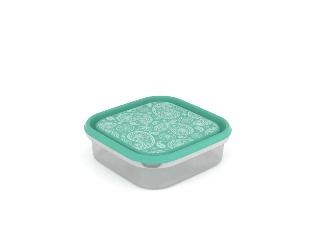 Inbar Decorative Container 1.3L 7134 Turquoise Paisley