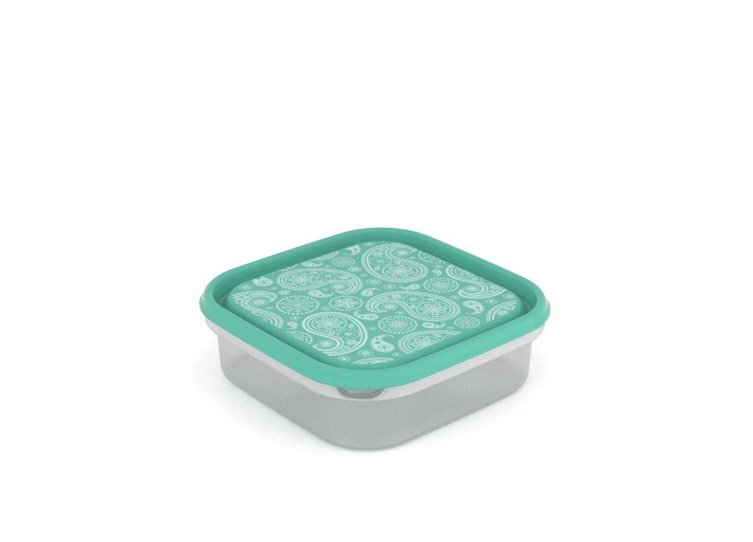 Inbar Decorative Container 1.3L 7134 Turquoise Paisley