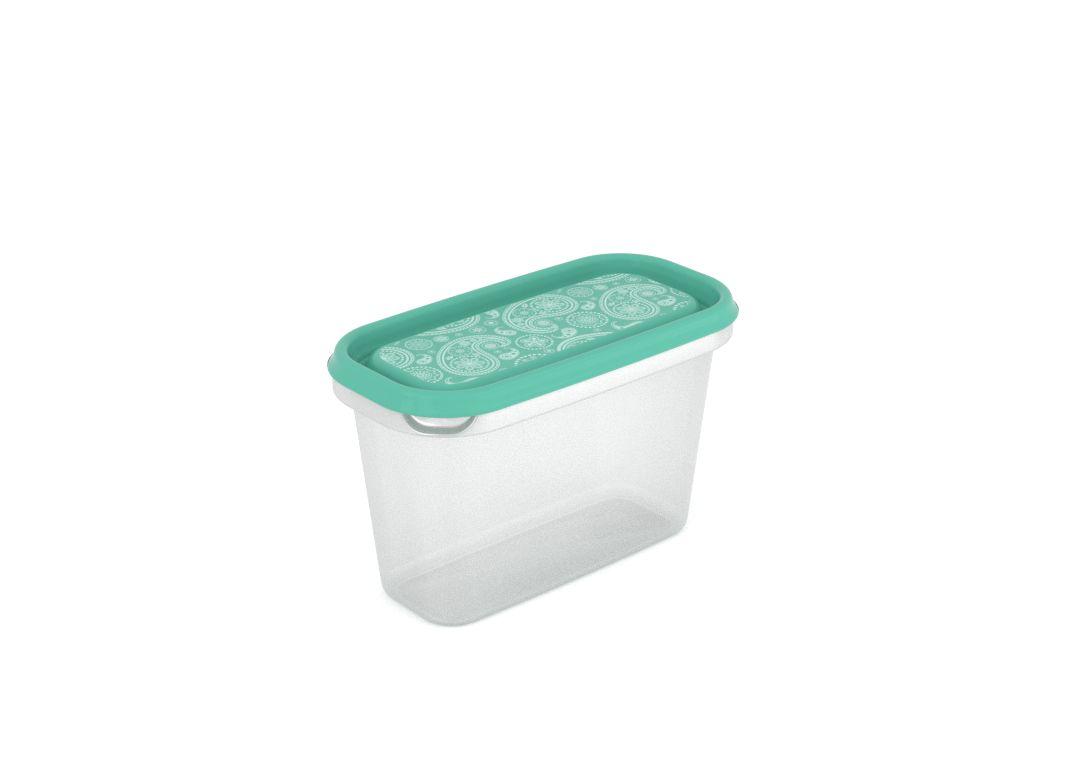 Inbar Decorative Container 1L 7104 Turquoise Paisley