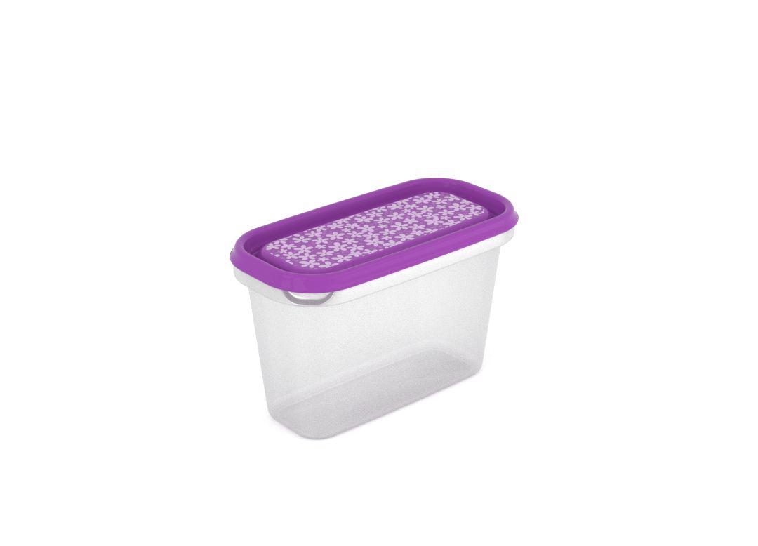Inbar Decorative Container 1L 7105 Purple Flowers