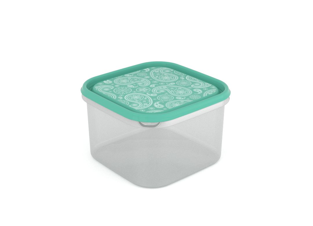 Inbar Decorative Container 2.8L 7284 Turquoise Paisley