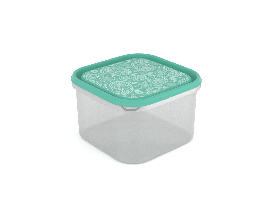 Inbar Decorative Container 2.8L 7284 Turquoise Paisley