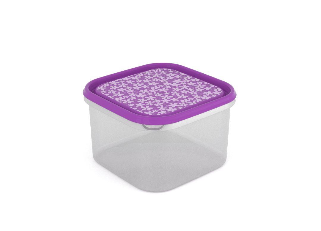 Inbar Decorative Container 2.8L 7285 Purple Flowers