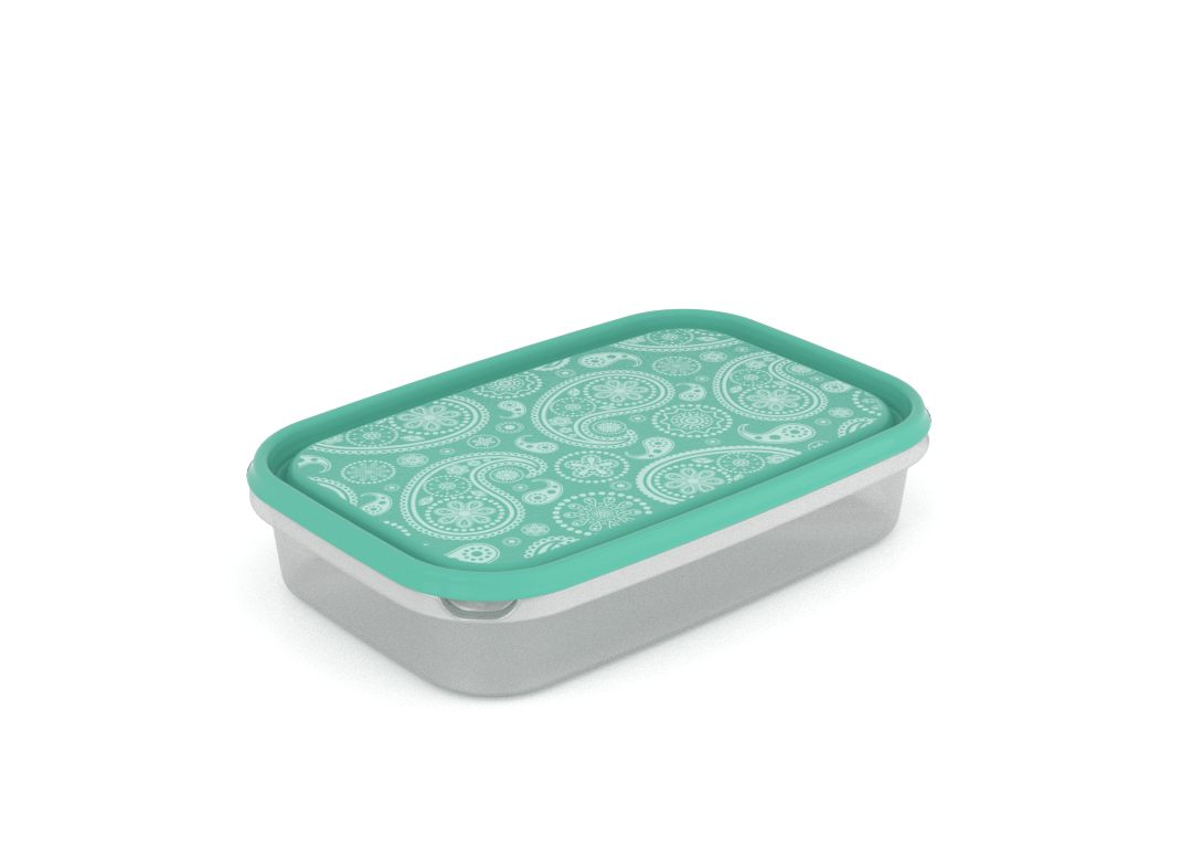 Inbar Decorative Container 2L 7204 Turquoise Paisley