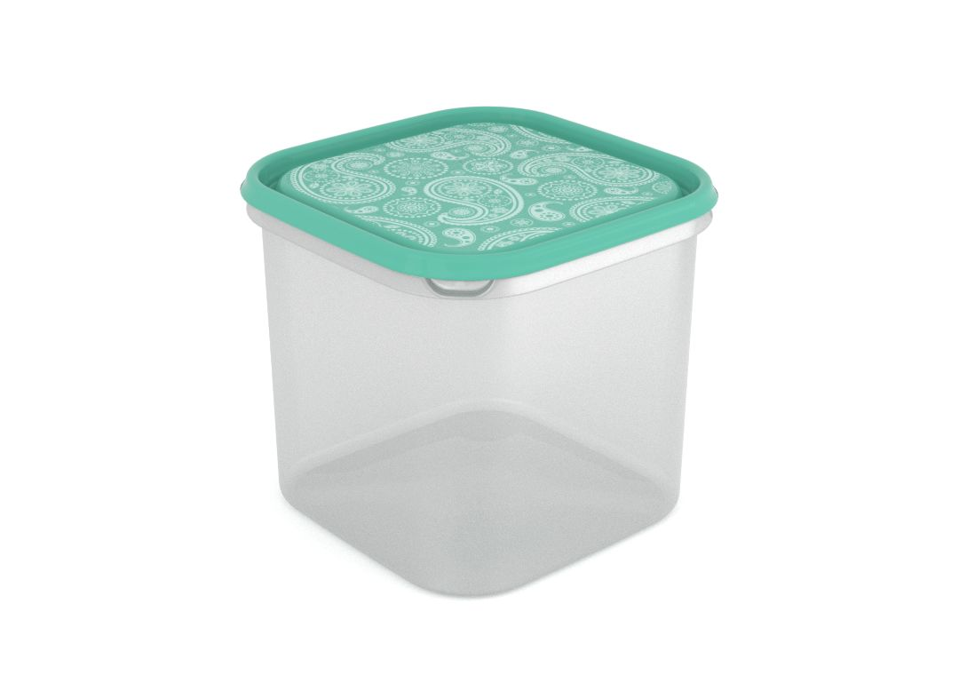 Inbar Decorative Container 4.2L 7424 Turquoise Paisley