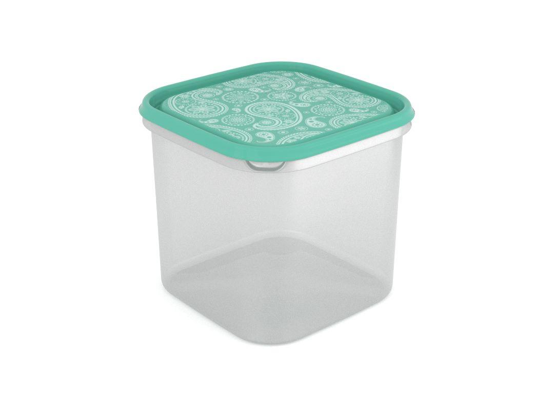 Inbar Decorative Container 4.2L 7424 Turquoise Paisley