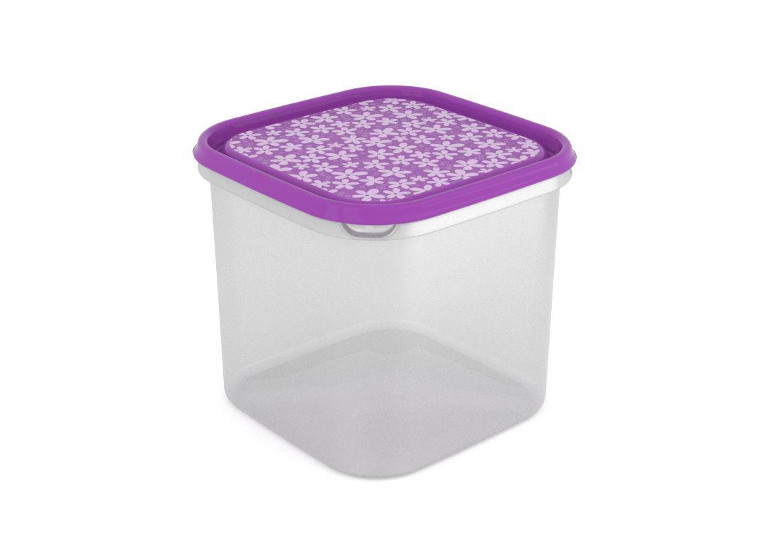 Inbar Decorative Container 4.2L 7425 Purple Flowers
