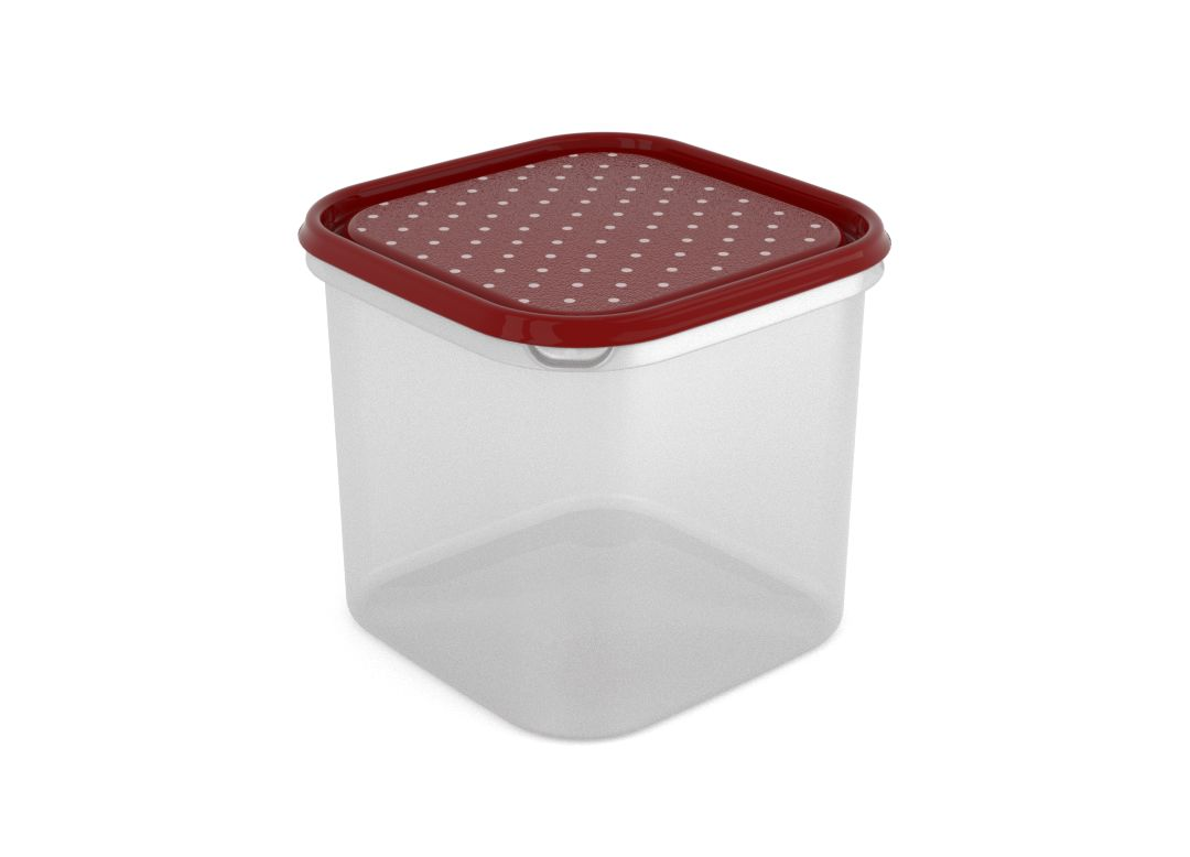 Inbar Decorative Container 4.2L 7427 Dark Red Dots