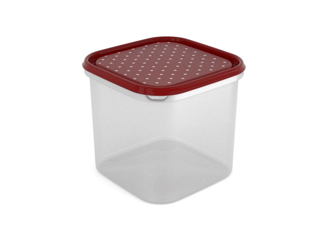 Inbar Decorative Container 4.2L 7427 Dark Red Dots