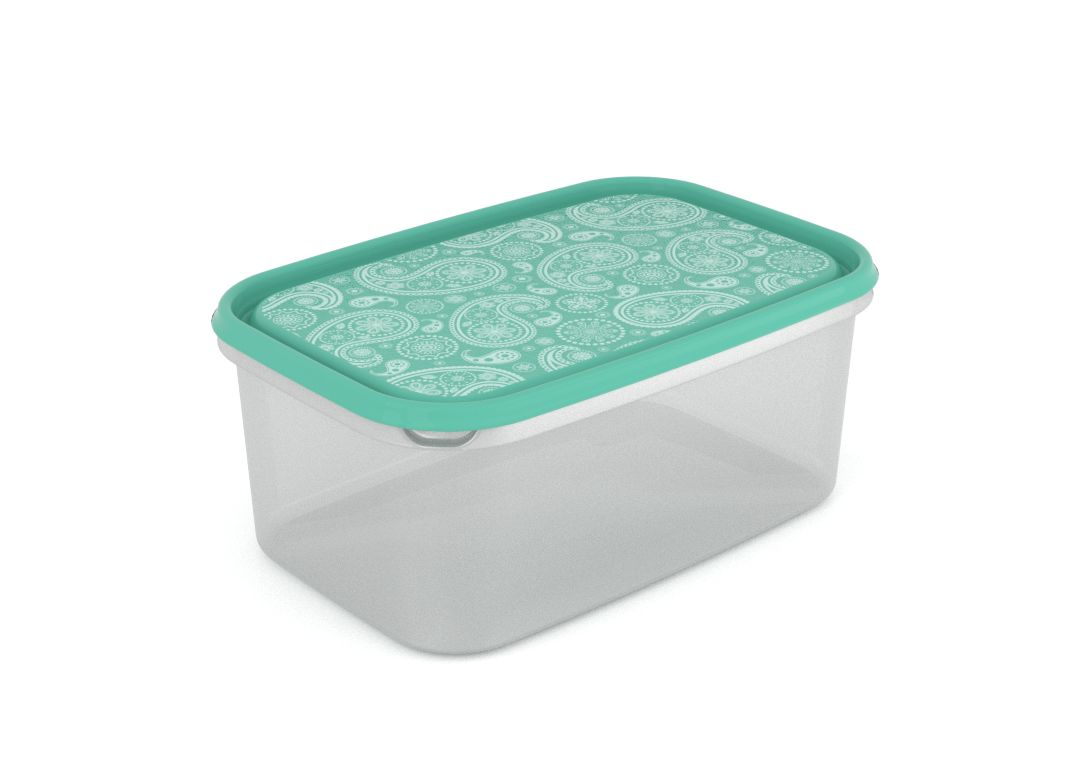 Inbar Decorative Container 4.4L 7444 Turquoise Paisley
