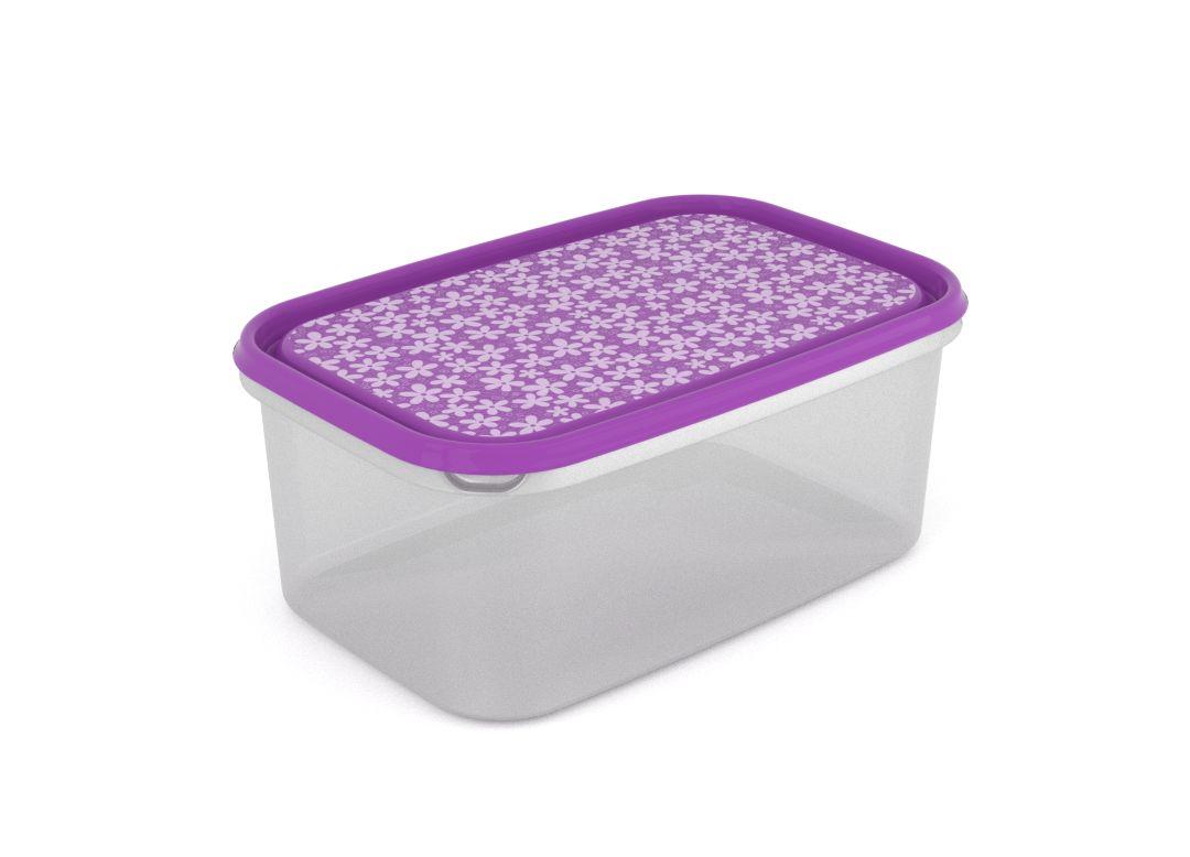 Inbar Decorative Container 4.4L 7445 Purple Flowers