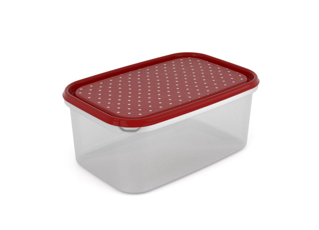 Inbar Decorative Container 4.4L 7447 Dark Red Dots