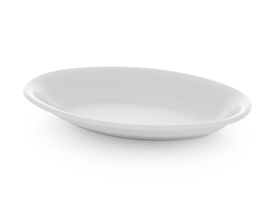 Oval Salad Plate 23cm 375 White