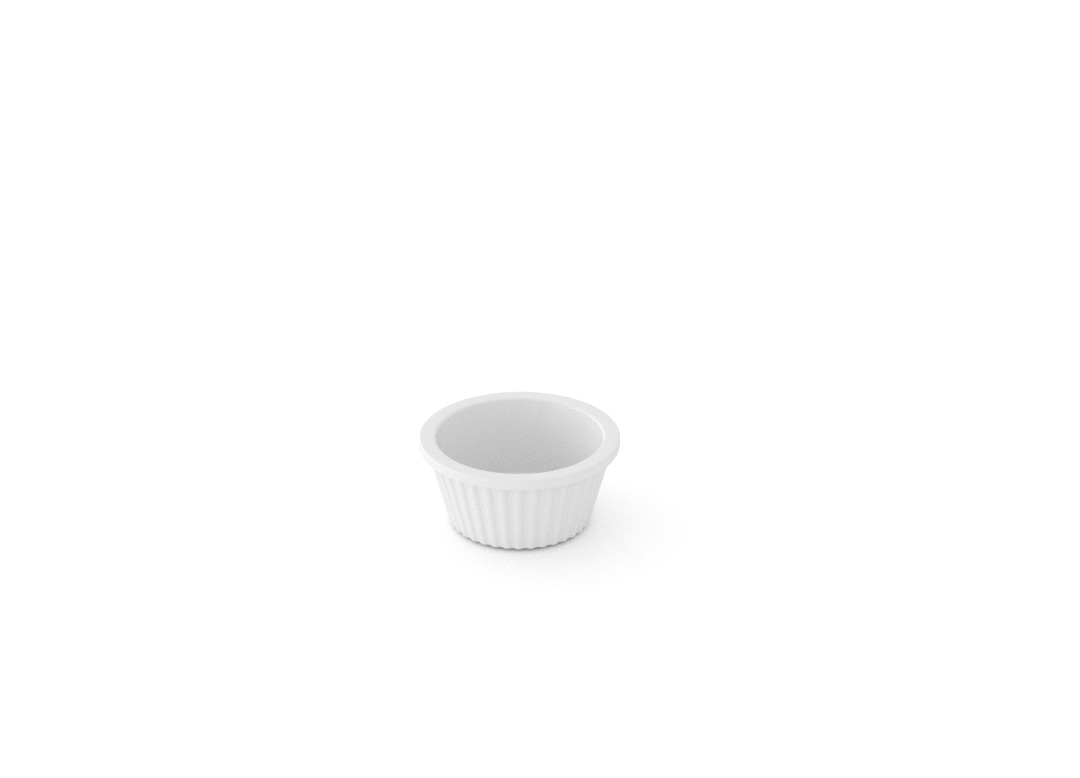 Salad Butter Pat Dish 5cm 100 White