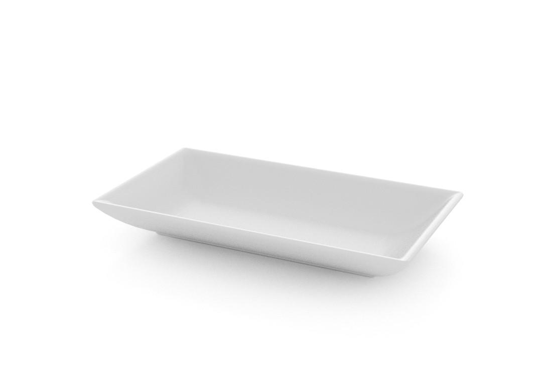 Salad Square Tapas Plate 9x16cm 393 White