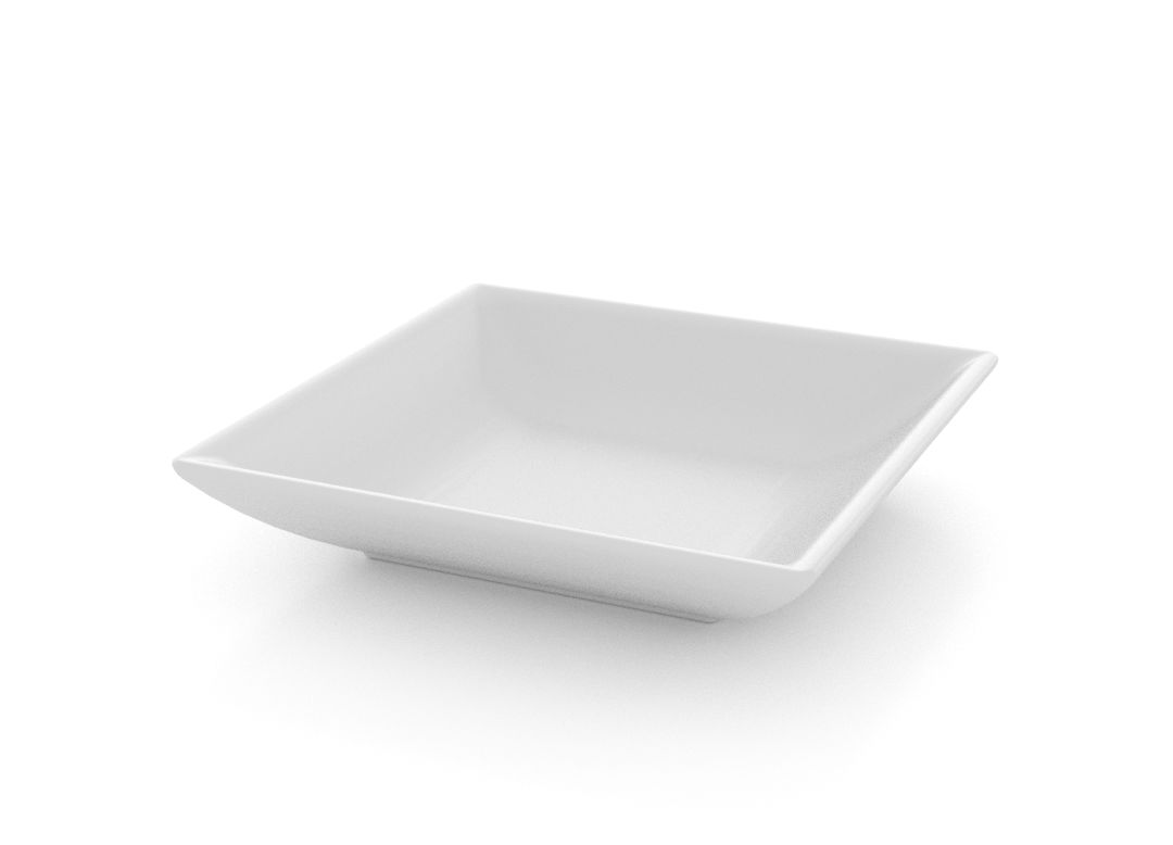 Small Square Salad Bowl 10.5cm 392 White