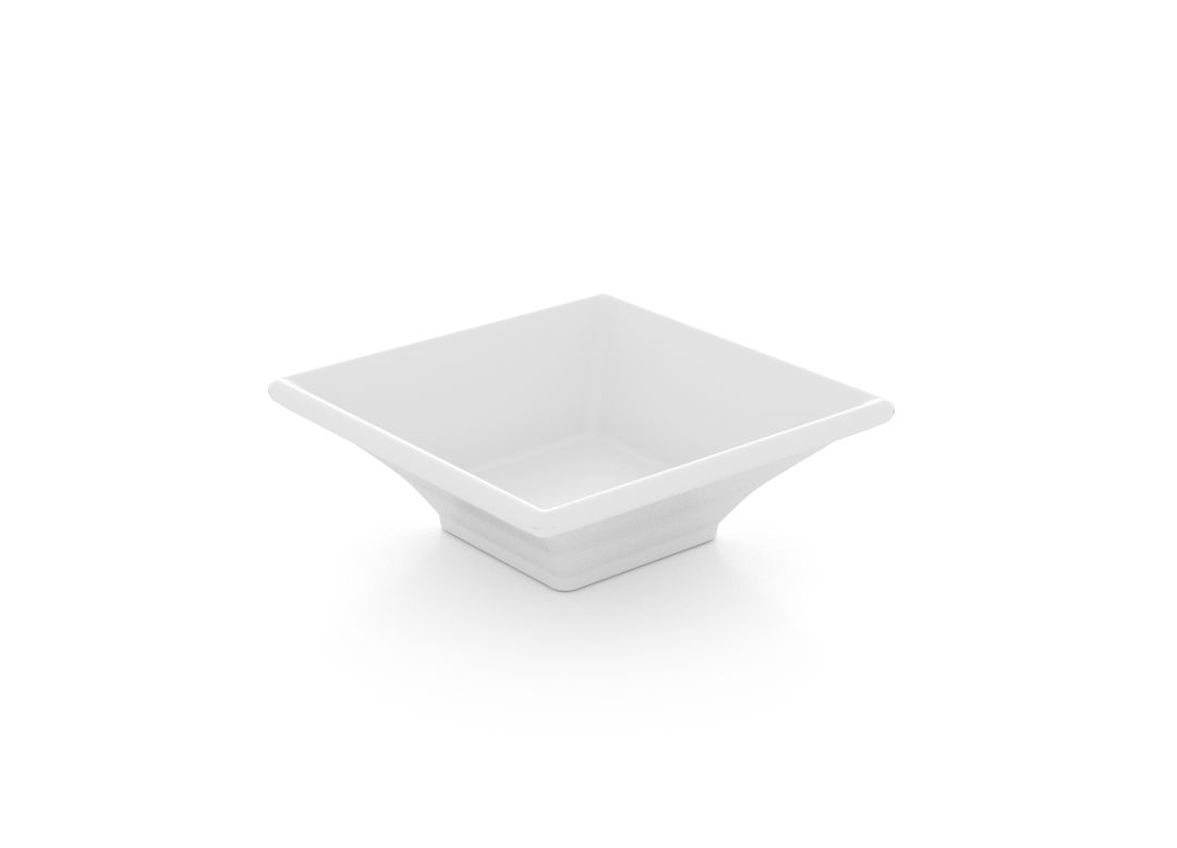 Square Salad Plate 9.5cm 390 White