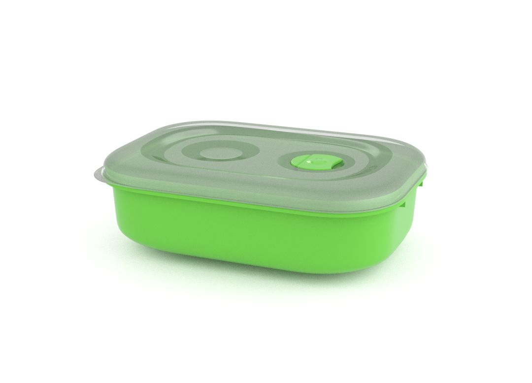 Tama Lock Rectangular Container 1.8L 9180 with Steam Release Valve Green