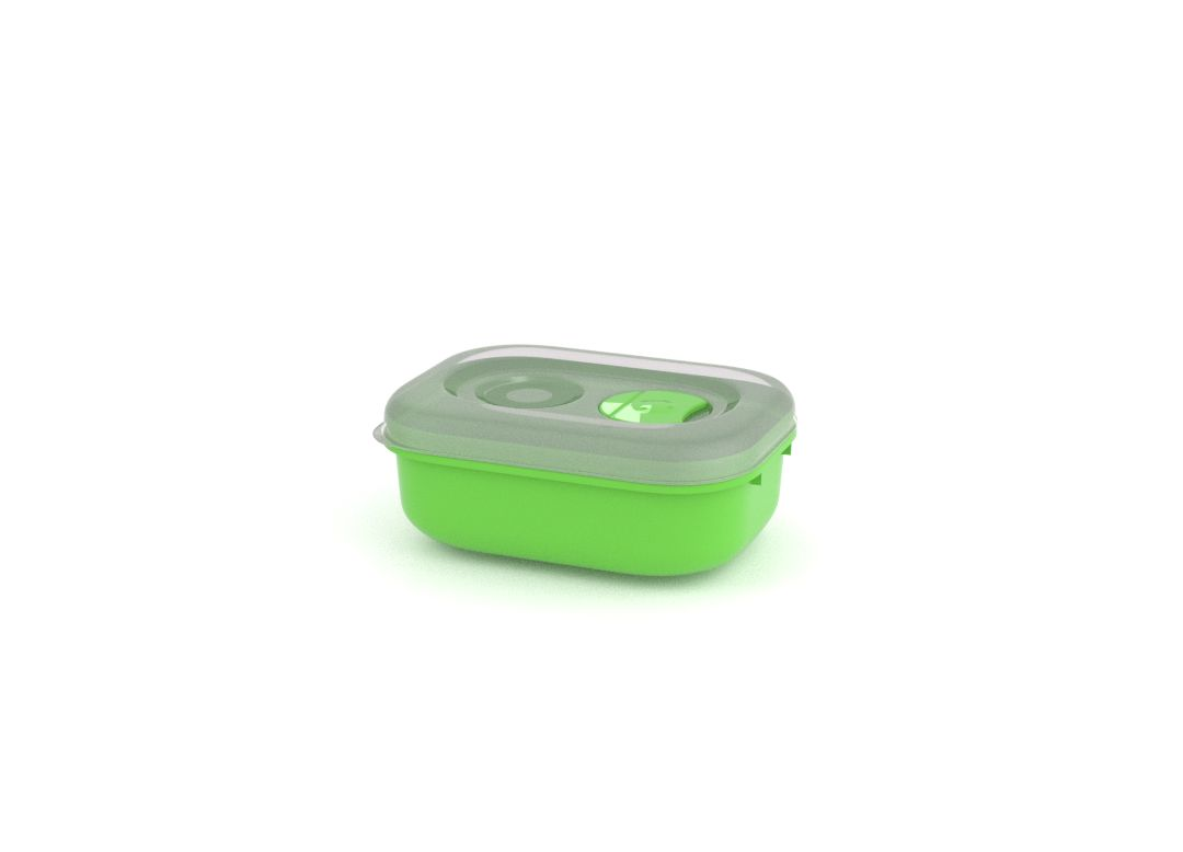 Tama Lock Rectangular Container 330ml 9330 with Steam Release Valve Green