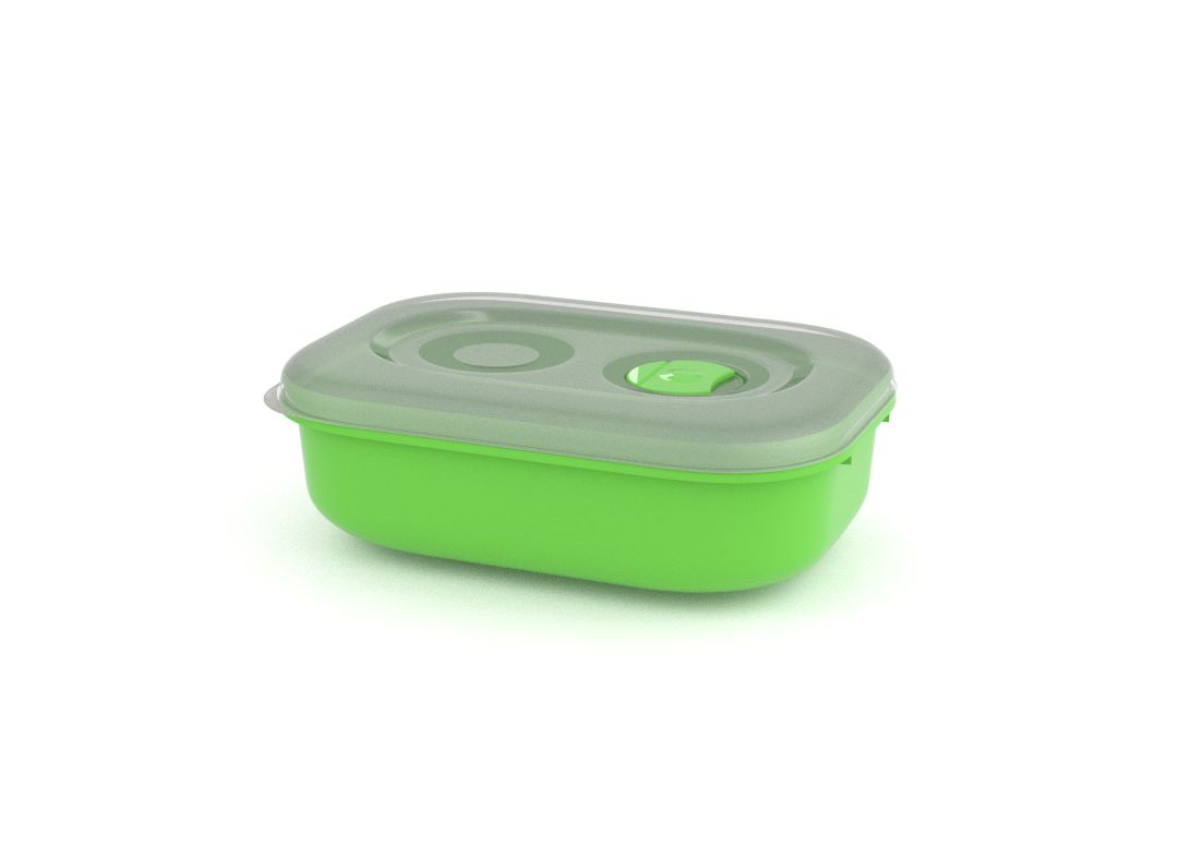 Tama Lock Rectangular Container 900ml 9900 with Steam Release Valve Green
