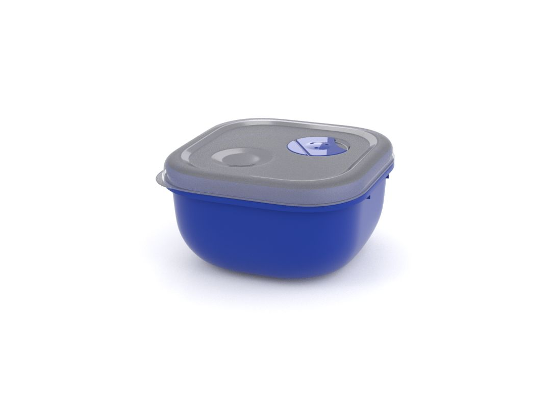 Tama Lock Square Container 500ml 9500 with Steam Rrelease Valve Dark Blue