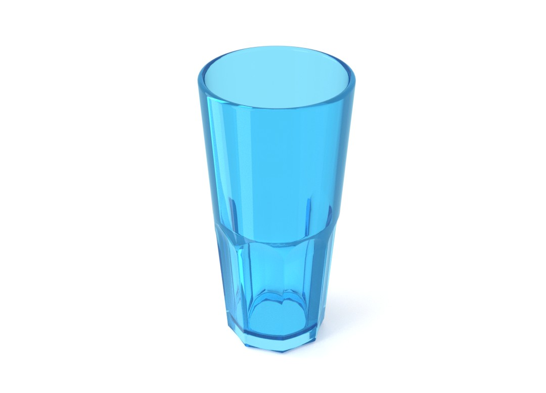 Acrylic Highball Cup 330ml 226 Transparent Blue