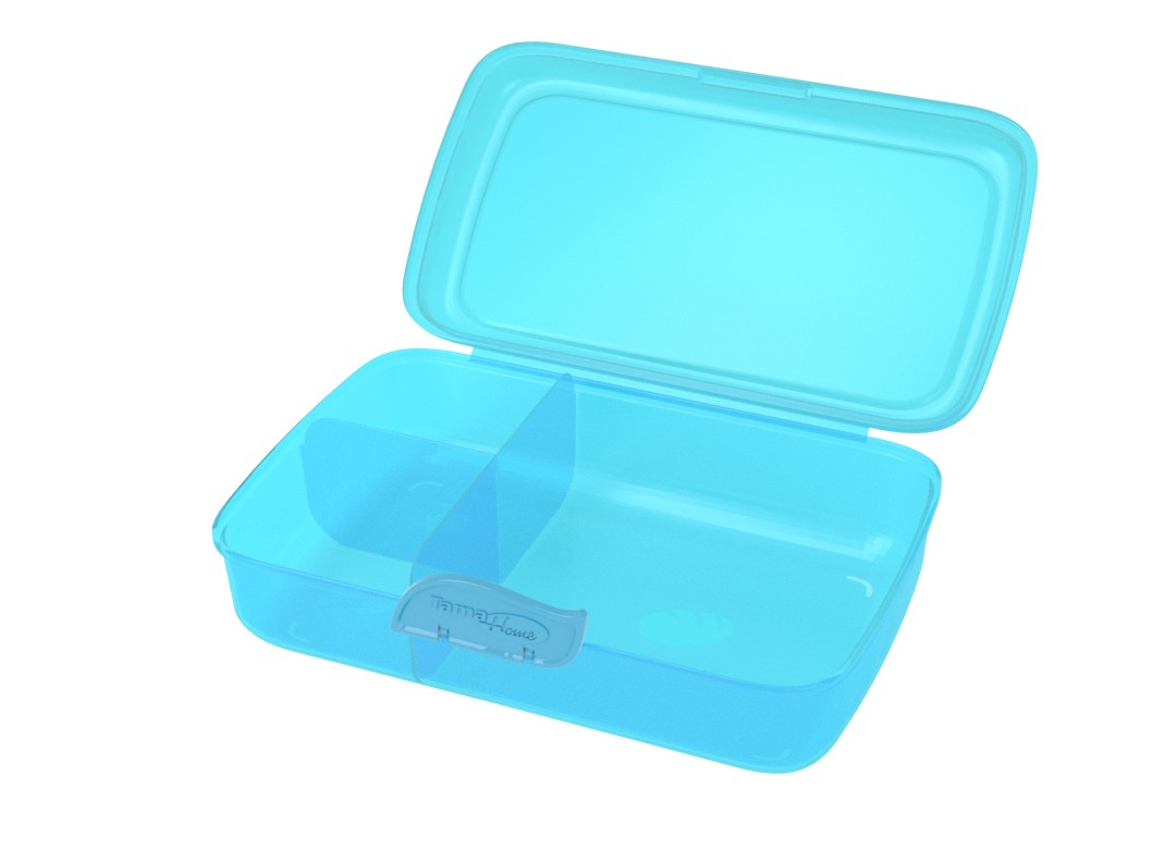 Lunchbox 22x15x7cm 1000 Transparent Blue