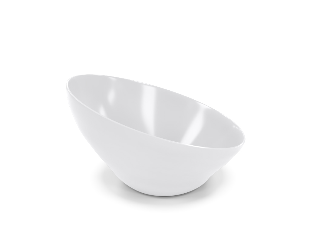 Bevel Thread Bowl 27.5cm 1023 Buffet White