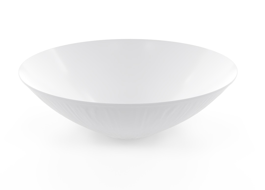 Decorative Bowl 38cm_1017 BUFFET White