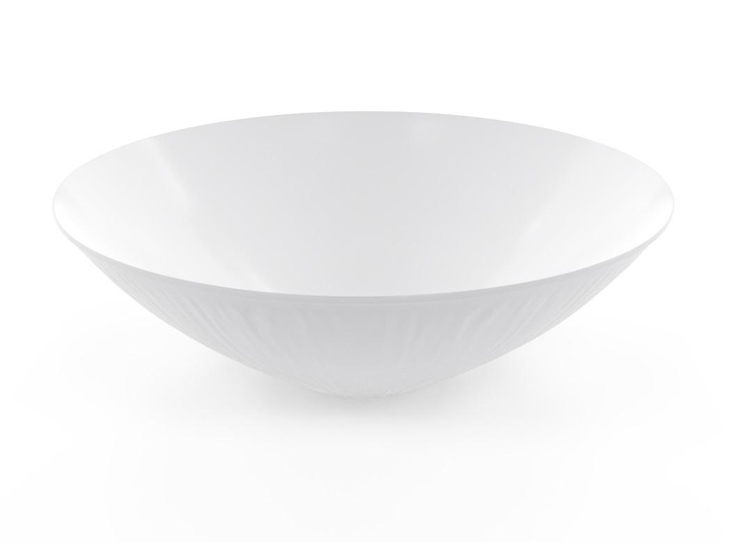 Decorative Bowl 38cm_1017 BUFFET White