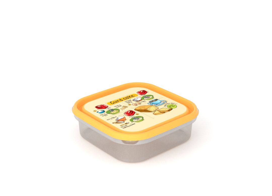 Inbar Food Container 1.3L 7131 Recipe IML Lid Yellow
